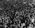 Oct. 1973: Over 100,000 people demonstrated at a Simchat Torah Freedom Rally for Israel at City Hall in New York City.